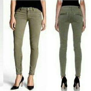 Paige Skinny fatigue army green